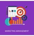 Marketing Management Concept Art vector image