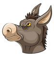 mascot head an donkey vector image