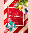 merry christmas background xmas 2020 cover design vector image vector image