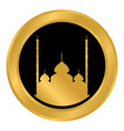 mosque button on white vector image vector image