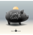 Piggy moneybox with coin - for family budget vector image vector image