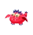 Pink Spiky Fantastic Friendly Pet Dragon Fantasy vector image