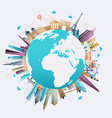 Planet earth travel the world Travel and tourism vector image vector image