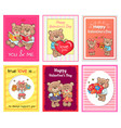 posters set happy valentines day to you and me vector image vector image