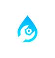 repair water logo icon design vector image vector image