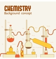 Retro experiments in a chemistry laboratory vector image