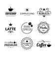Retro Vintage Coffee Labels Logo design vector image vector image