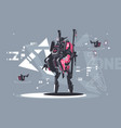 robot drone mechanized and automated vector image vector image