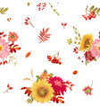 seamless watercolor autumn flowers vector image vector image