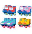 set of roller skate shoes vector image