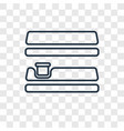 shelves concept linear icon isolated on vector image