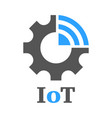 simple icon to represent the internet of things vector image vector image