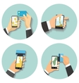 Smartphone with processin vector image vector image