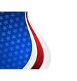 Stars and stripes themed wavy background vector image vector image
