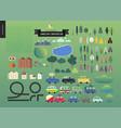 summer landscape constructor vector image