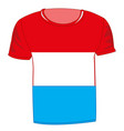 t-shirt with flag luxembourg vector image vector image