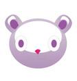 toy bear cartoon cute face head of a plush teddy vector image vector image