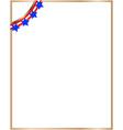 usa flag symbols decorative corner border vector image vector image