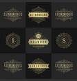 vintage logos and monograms set elegant flourishes vector image vector image