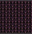 violet oriental flowers vector image