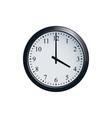 wall clock set at 4 o clock vector image