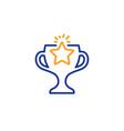 winner cup line icon sport trophy vector image