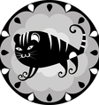 funny Chinese horoscope tiger vector image