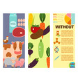 farm cards nature food vector image