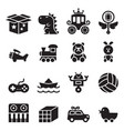 toy icon set vector image
