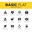 Basic set of love icons vector image