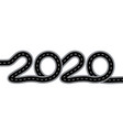 2020 new year the road with markings is stylized vector image vector image