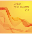 abstract wave background in orange color vector image