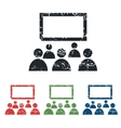 Audience grunge icon set vector image