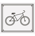 bicycle icon design vector image