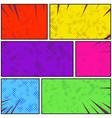 bright colorful retro style pop art comic page vector image vector image