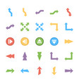 bundle of arrows colored icons vector image