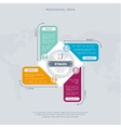 Business infographics concept with four stage vector image vector image