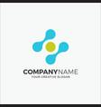 business logo technology vector image