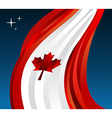 Canada flag background vector image