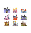 castles and fortresses set fairy medieval vector image vector image