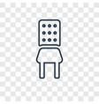 chair concept linear icon isolated on transparent vector image