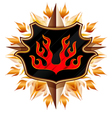 coat of arms with flame vector image vector image