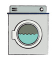 colored blurred silhouette of washing machine with vector image vector image