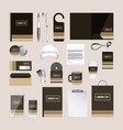 corporate identity template design with brown vector image