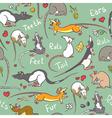 cute rats vector image vector image