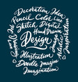 dance concept hand written typography vector image vector image