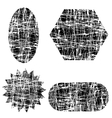 Different Grunge Shapes vector image