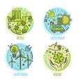 Ecology green technology organic bio design