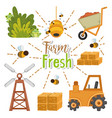 farm fresh cartoons vector image vector image