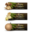 festive banners set for christmas and new year vector image